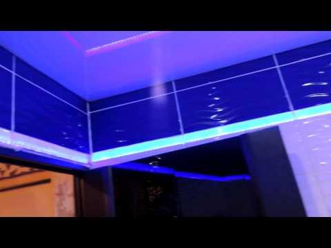 Ванная комната, необычная подсветка