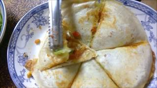 Mexican dish made with kebab wrap - Quesadilla 墨西哥料理 《墨西哥餡餅》