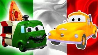 Tom la Grúa y Carlo el Pizzaïolo en Auto City | Dibujos animados para niños