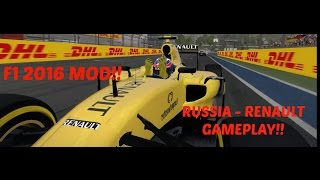 F1 2016 MOD: Russia - Renault Gameplay - 2016 Tracks, Cars & Drivers