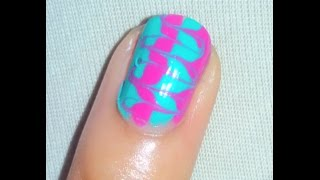 Water Marble Nails (Without Using Water) Thumbnail