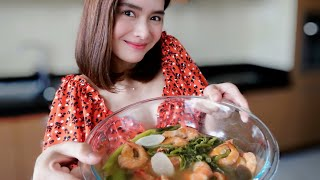 Cooked Shrimp Sinigang ♥️ | Erich Gonzales