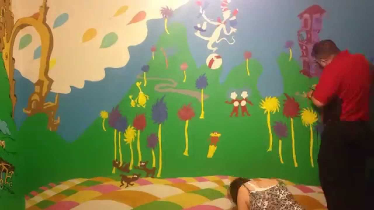 Painting Our Dr Seuss Nursery Part 1
