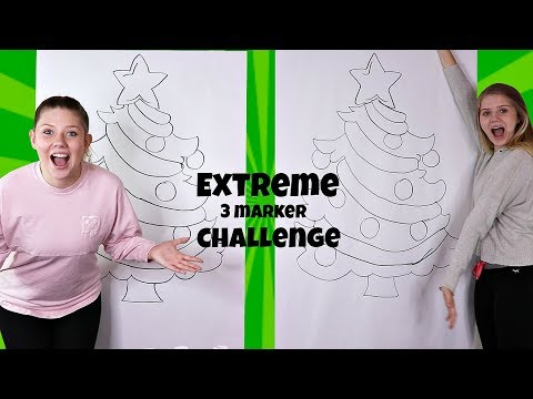 Extreme 3 Marker Challenge | Christmas 2018 | Taylor and Vanessa