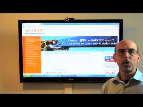 Solar Energy - NABCEP certification
