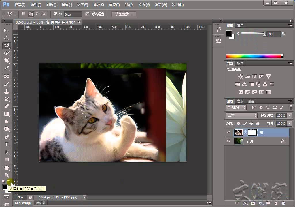 Photoshop CS6 輕鬆學會去背 圖層遮色片去背 - YouTube