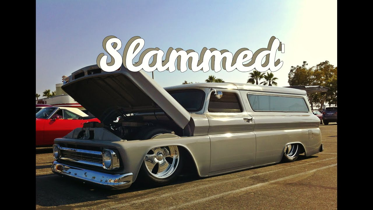 1966 Chevy Suburban On 20 S Laying Frame Quot Slammed Quot Youtube