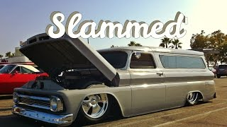 1966 Chevy Suburban On 20's Laying Frame