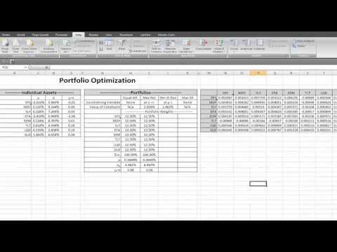 Portfolio Optimization in Excel.mp4