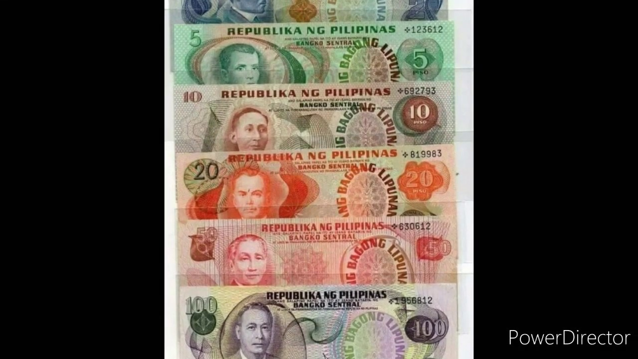 Philippines money alin jan ang inabutan mo?