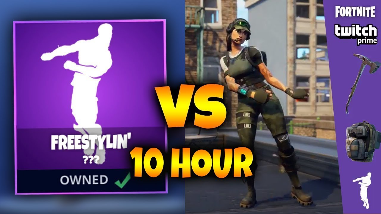 10 hour new twitch prime emote freestylin dance fortnite battle royale - best mates fortnite dance 1 hour