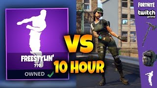 「10 Hour」 *NEW* TWITCH PRIME EMOTE FREESTYLIN' DANCE (Fortnite Battle Royale)
