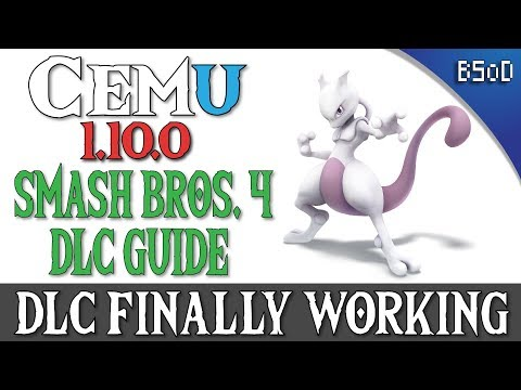 Cemu 1 10 0 | DLC Characters and Stages | Smash Bros  4 - Vloggest