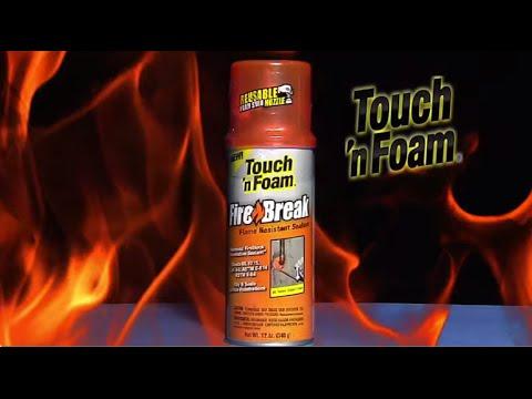 Touch N Foam Firebreak Flame Resistant Sealant Youtube