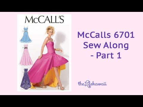 Sew Along McCalls 6701 Part 1 - M6701 Dress Pattern