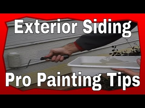 How To Paint Exterior Siding - Youtube