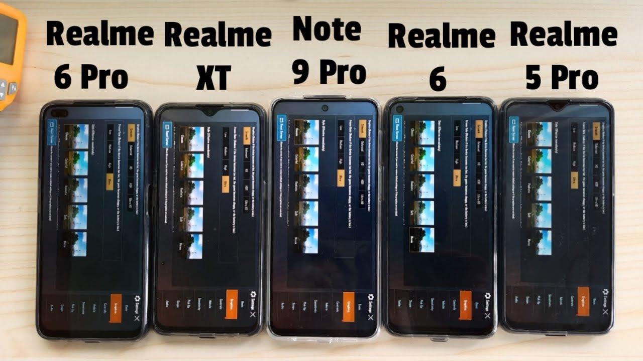 PUBG Battery Drain/Heating: Note 9 Pro vs Realme 6 Pro vs Realme 6 vs Realme XT vs Realme 5 Pro!