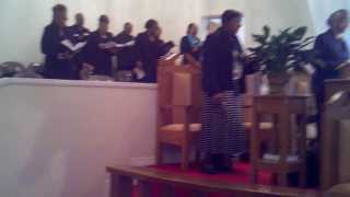 "Butler Chapel AME Zion Church James E. Cook Mass Choir singing ""Lift Every Voice"