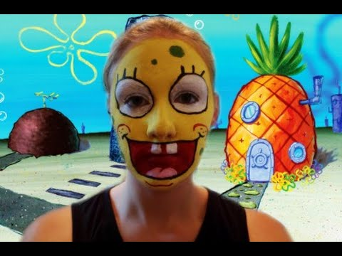 Image result for Make up facepaints spongebob