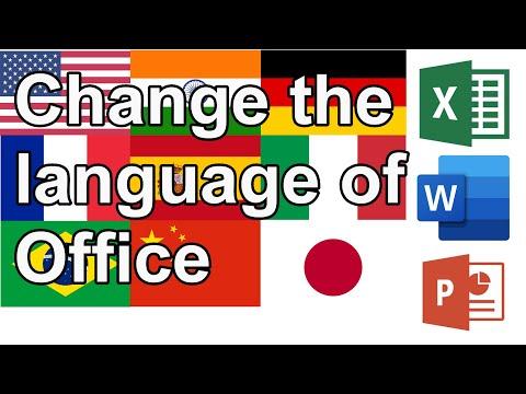 Change Language Office 2016