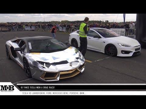 10 times Tesla won a DRAG RACE vs petrol cars- MOTORS BUZZ
