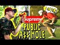 SUPREME AIR HORN AT THE GOLF COURSE PRANK!! * I GOT BEAT UP*