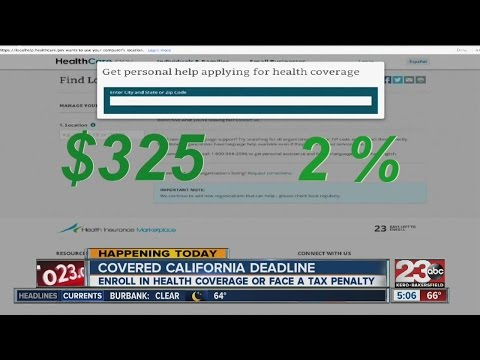 Deadline to enroll for health insurance under Covered California is today