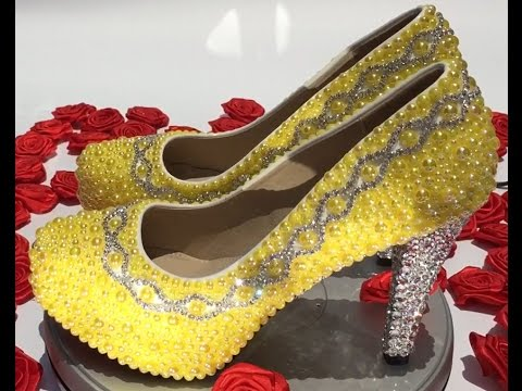 velcans:-pink-&-citrus-limon-pearl-heels-4.5-inches-wedding-pumps-for-bridesmaid,bridal-&-prom-shoes