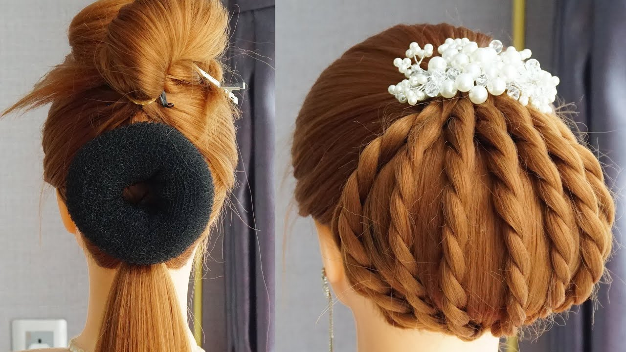 New French Braid Bun Hairstyles | French Twists Hairstyles | Easy Elegant Bun Hairstyles