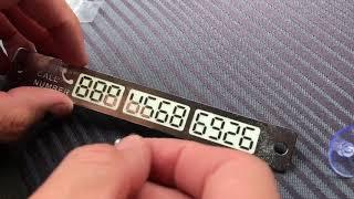Стайлинг и автоаксессуары с Алиэкспресс, табличка для номера телефона светящаяся. Обзор и отзыв.