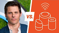 "James Marsden asks robots to google him in ""Man Vs Machine""…"