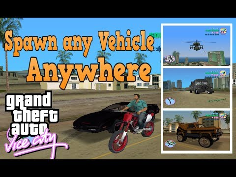GTA Vice City Spawner Mod | Spawn Any Vehicle Anywhere | No Cheat Needed