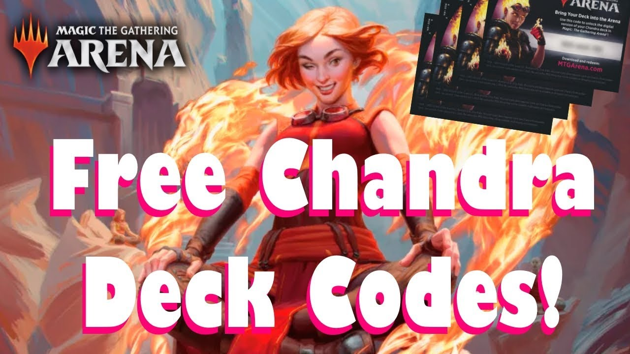 [EVENT OVER] 200,000 FREE CHANDRA PLANESWALKER DECK CODES! | MTG Arena Free  Code Tutorial