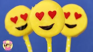 EMOJI MARSHMALLOW POPS  - Emoticon Love Heart Eyes Pops - Baking With Charli's Crafty Kitchen