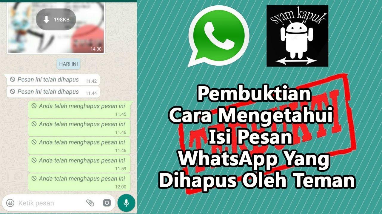 Download Pembuktian Trick Melihat Pesan Whatsapp