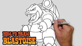 How to Draw Blastoise- Pokemon Video Lesson