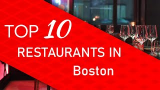 Top 10 best Restaurants in Boston, Massachusetts