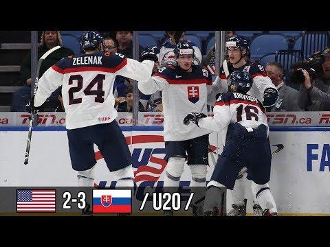 USA 2-3 Slovensko /U20/ MS juniorov 2018 (29.12.2017)