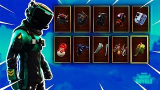 "Fortnite NEW ""TOXIC TROOPER"" SKIN introduced with 27 BACK BLINGS ( Hatchling, Scaly) 