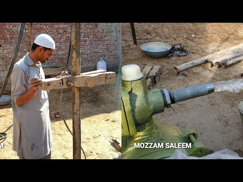 Complete Process  Motor Pump Boring | Motor Pump Lgane Ka Tareqa Village Style  BY MOZZAM SALEEM