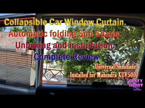 Collapsible Car Window Curtain. Automatic folding Sun Shade. Unboxing and installation on XUV500