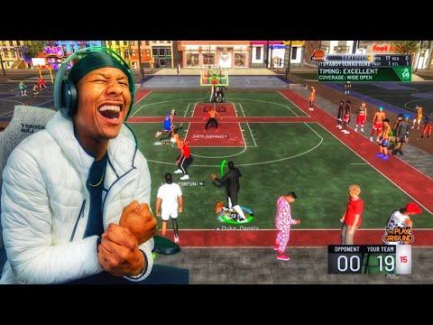 Demigod Shot Creator Stretch Big! NBA 2K19 MYPARK! I GOT THE BEST JUMPSHOT ON NBA 2K19 thumbnail