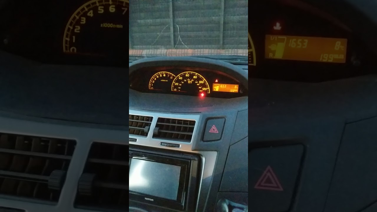 Toyota Yaris 2017 No Key In Ignition Dash Lights Flickering