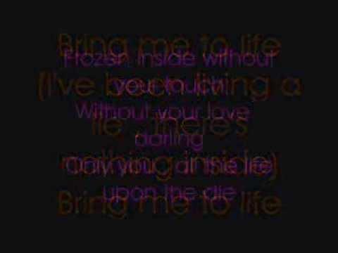 wake me up inside lyrics youtube