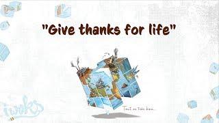 """✍ I Woks - Give thanks for life - Album """"Tout va très bien..."""" - (Lyrics vidéo)"""
