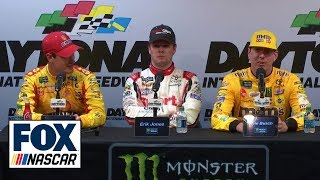 Joey Logano, Kyle Busch, Erik Jones talk Daytona 500 | INTERVIEW | 2019 DAYTONA 500