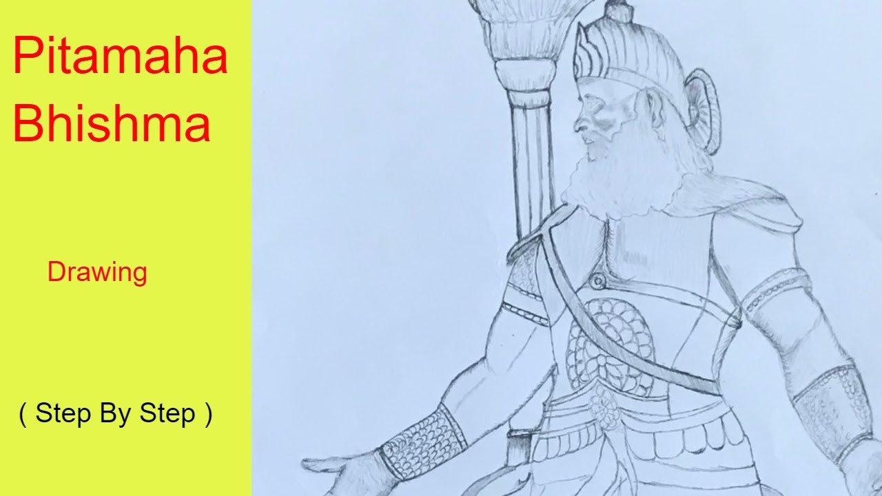 How To Draw Pitamah Bhishma Very Easy For Beginners Youtube