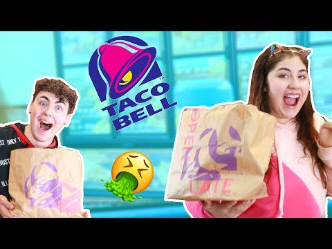 WE ORDERED EVERYTHING ON THE TACO BELL MENU | got sick!
