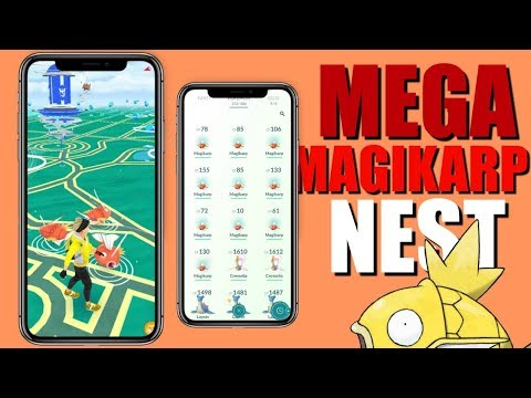 MEGA SHINY MAGIKARP NEST IN POKEMON GO COORDINATES! | JUNE 2019 WEEK 1