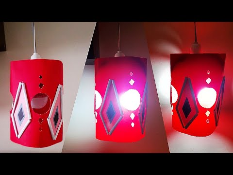 DIY Paper Lampshade|Handmade Lampshade|ലാംബ് ഷെയ്ട്|Designer Light |Home Decor Lampshade Ideas